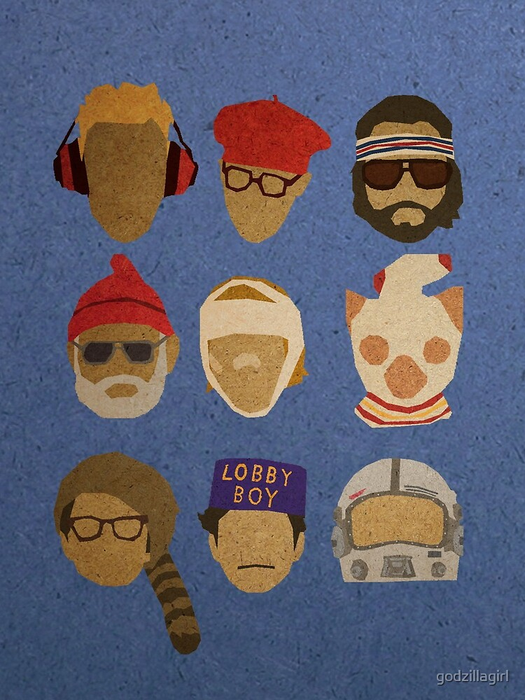 Wes Anderson's Hats by godzillagirl