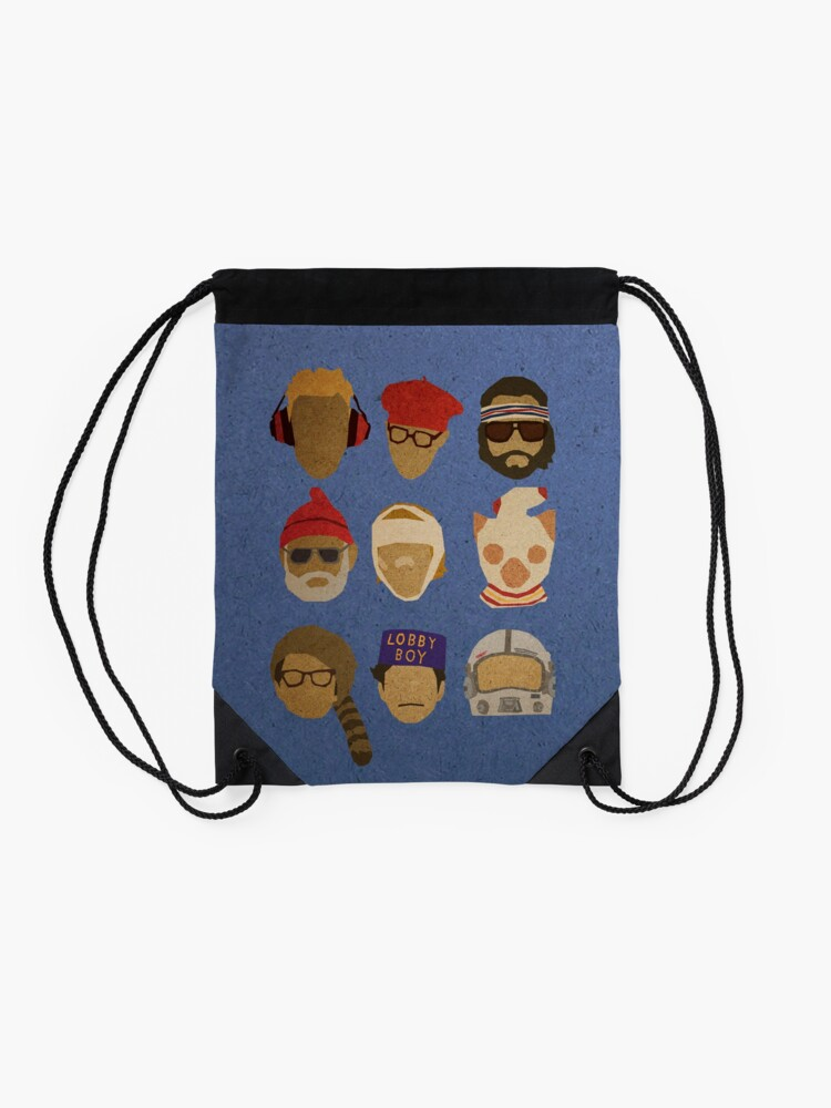 Alternate view of Wes Anderson's Hats Drawstring Bag