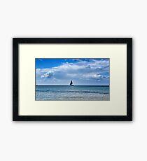 Sailing on the bay Framed Print