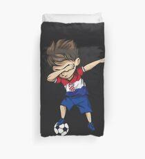 Abtupfenden Fußball Boy Kroatien Jersey Fußball Bettbezug