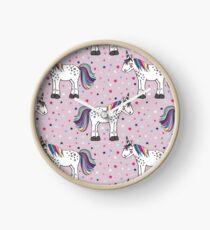 Einhorn pastell  Uhr