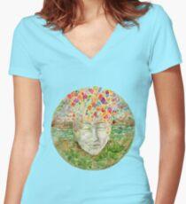 Mandala- meditation Women's Fitted V-Neck T-Shirt