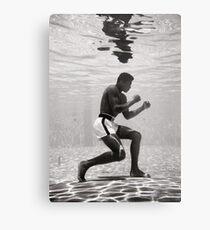 Muhammad Ali Underwater Poster Metal Print