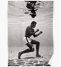 Muhammad Ali Underwater Poster Poster