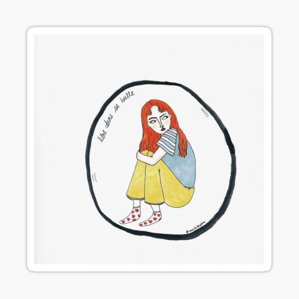 Dans sa bulle Sticker