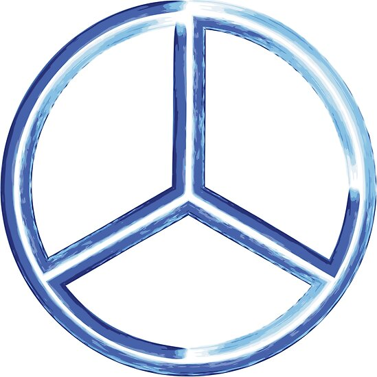 Abstract Watercolor Peace Sign Hand Painted Posters By