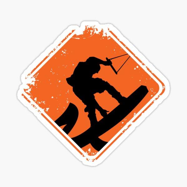 Wakeboard Sign. Sticker