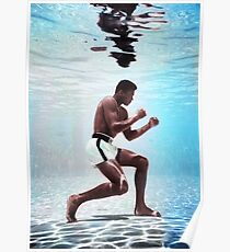 Muhammad Ali underwater colorful poster Poster