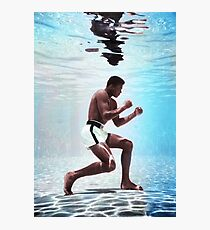 Muhammad Ali underwater colorful poster Photographic Print