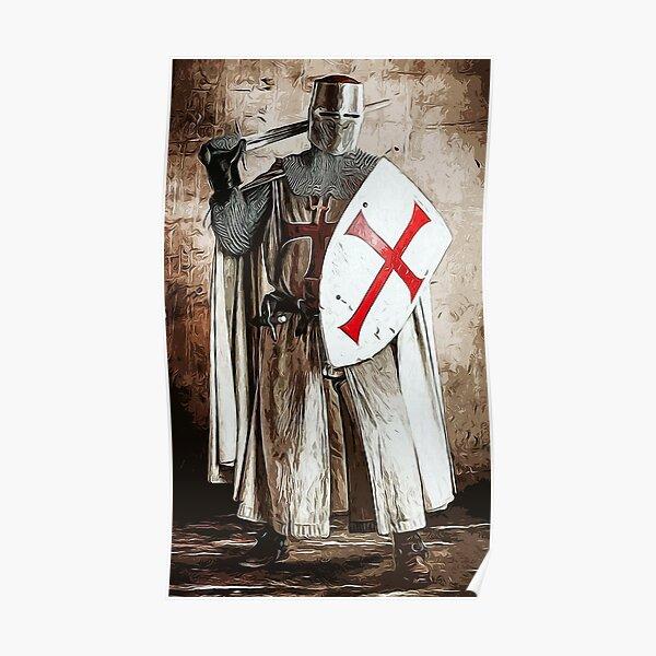 Ancient Templar Knight Poster