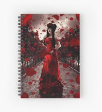 Rose Tempest Spiral Notebook
