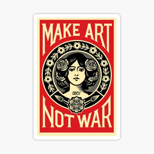 ART NOT WAR Sticker