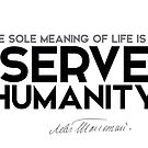 serve humanity - leo tolstoy by razvandrc