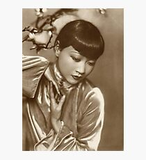 Anna May Wong Film Actress Vintage Portrait Photographic Print