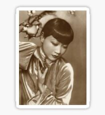 Anna May Wong Film Actress Vintage Portrait Sticker