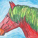 Red Horse by Juhan Rodrik