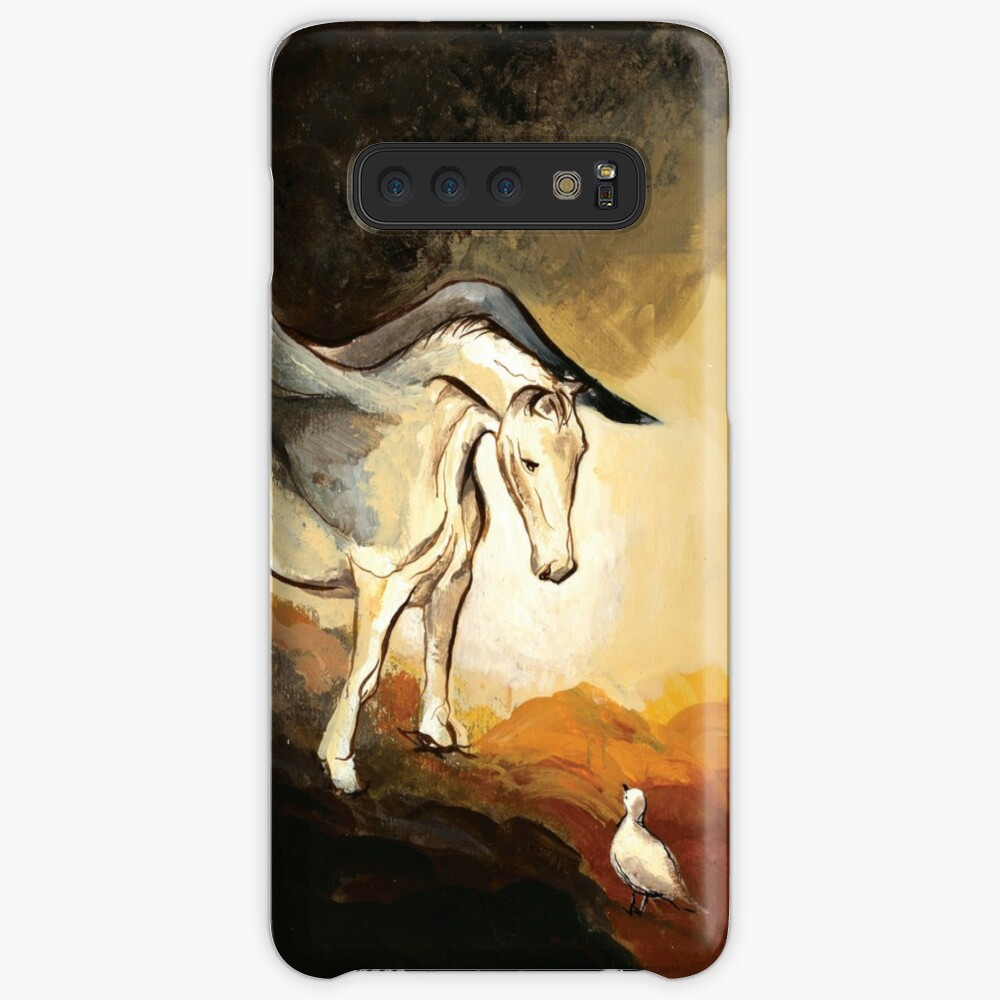 Winged horse with seagull - Silver Stream Children's Book illustration Case & Skin for Samsung Galaxy
