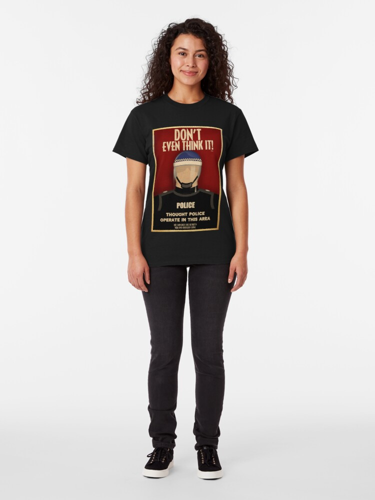 Alternate view of Thought Police Classic T-Shirt