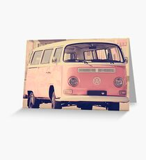 Pink camper van Greeting Card