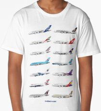Airbus A380 Operators Illustration Long T-Shirt