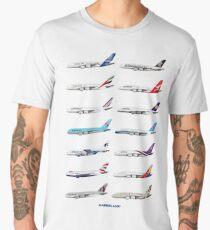 Airbus A380 Operators Illustration Men's Premium T-Shirt
