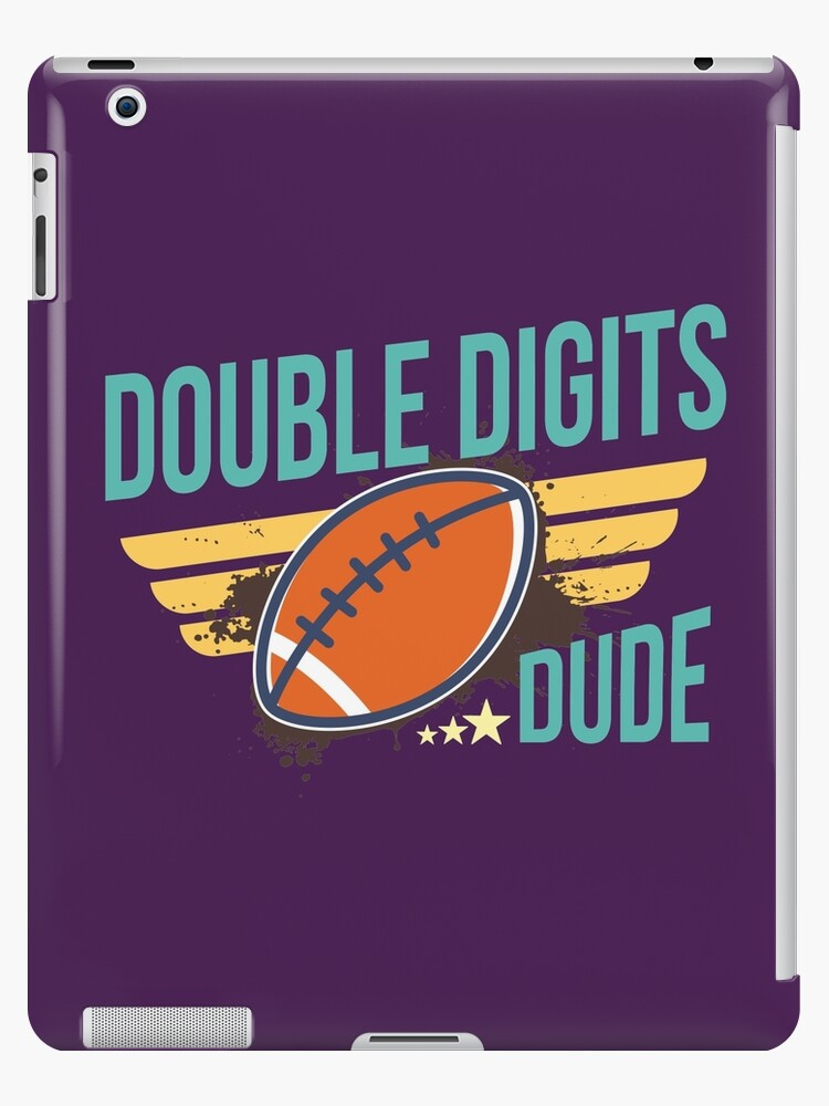finest selection 4256e 13ce3 'Double Digits Dude - Football T-shirt, Phone Cases And Other Gifts' iPad  Case/Skin by MemWear
