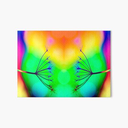 Rainbow Queen Anne Lace Art Board Print