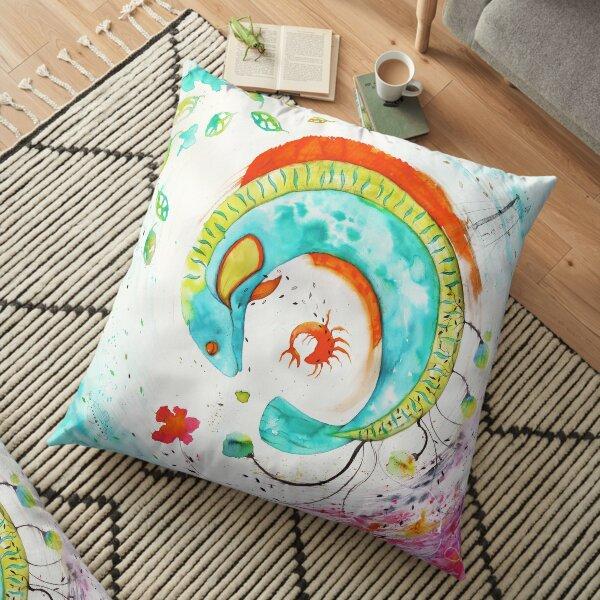 a Frozen spring time Floor Pillow