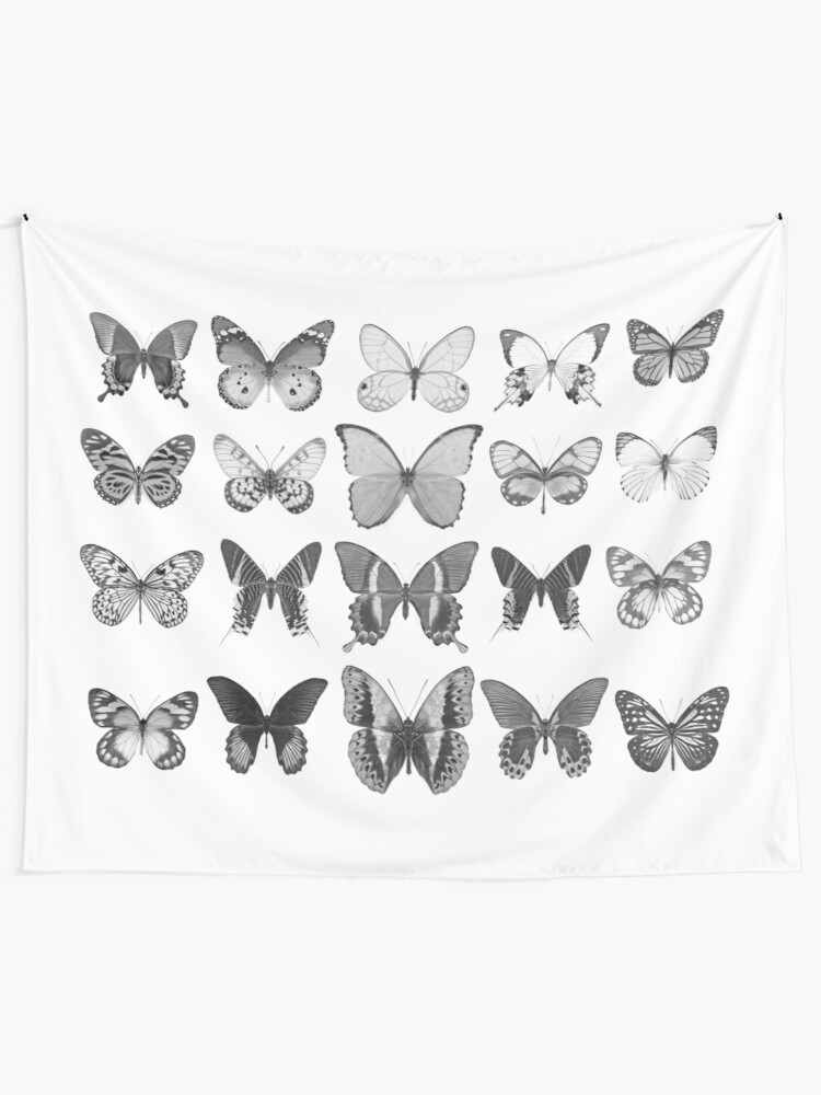Alternate view of Mono Butterfly Collection Tapestry