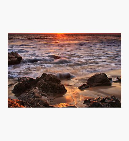 Glowing Sand Photographic Print
