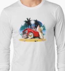 Vector cartoon retro pickup Long Sleeve T-Shirt