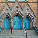 Three Turquoise Doors  by Ethna Gillespie