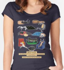 Greyhound Glossary: Bed Fail. A Redbubble exclusive design Women's Fitted Scoop T-Shirt