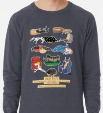 Greyhound Glossary: Bed Fail. A Redbubble exclusive design Lightweight Sweatshirt