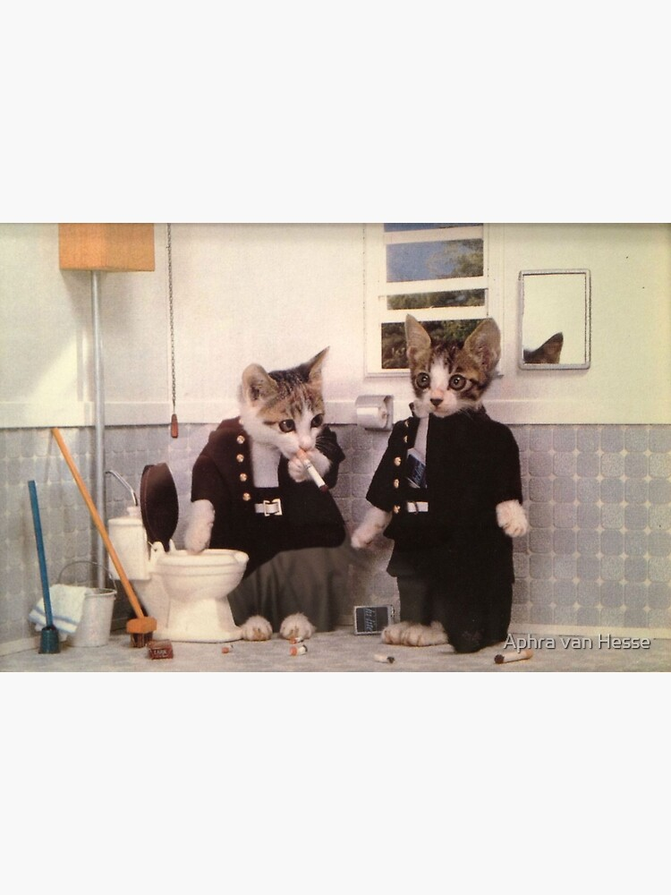 Smoking Kittens by aphrahesse