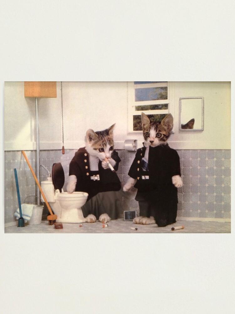 Alternate view of Smoking Kittens Photographic Print