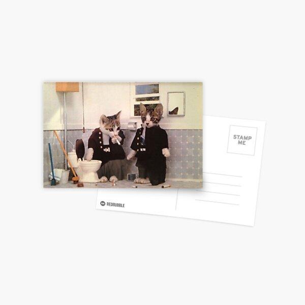 Rauchende Kätzchen Postkarte