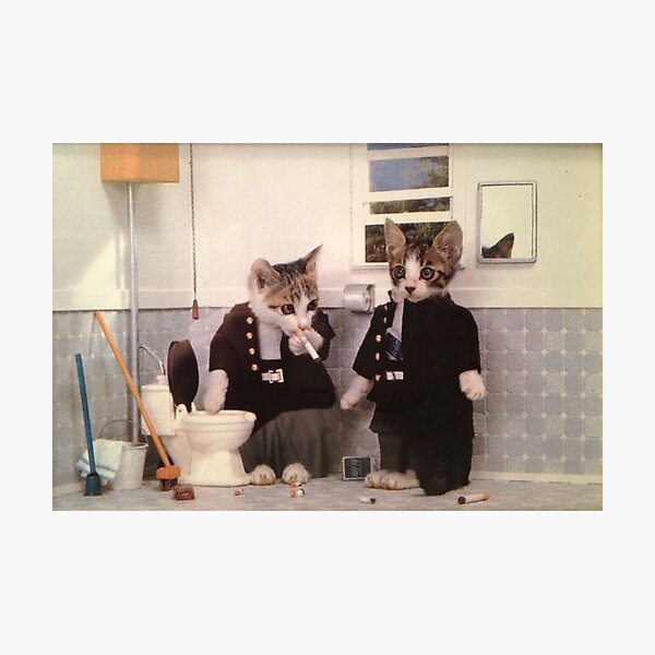 Smoking Kittens Photographic Print