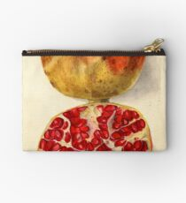 Vintage Illustration of a Pomegranate Zipper Pouch