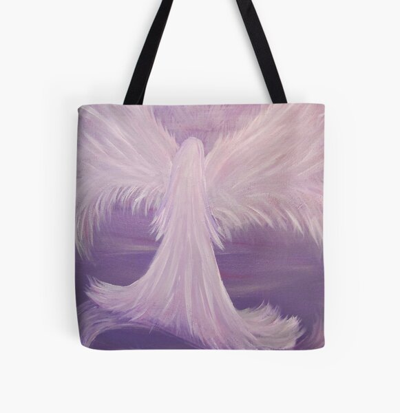 Guardian Angel Painting All Over Print Tote Bag