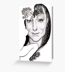 Anthea Lady behind the mask Greeting Card