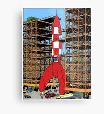 Tintin rocket Metal Print