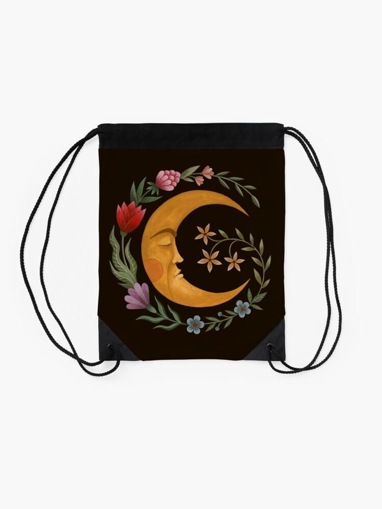 Alternate view of Midsummer Moon Drawstring Bag