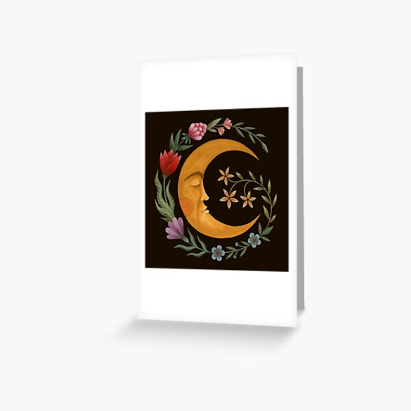 Midsummer Moon Greeting Card