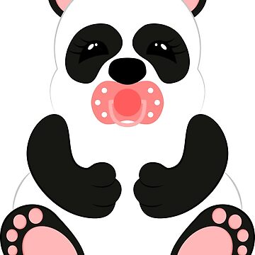 Panda baby on a white background. Flat design style. by Afone4ka