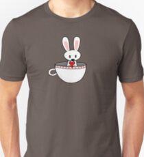 April Rabbit  in a teacup Unisex T-Shirt