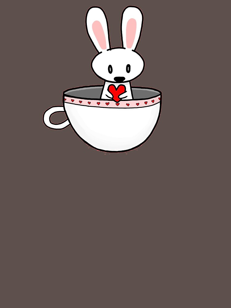April Rabbit  in a teacup by Sonatisel67