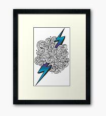 Ride the Lightning - Purple Blue Ombre Framed Print