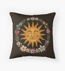 Midsummer Sun Throw Pillow