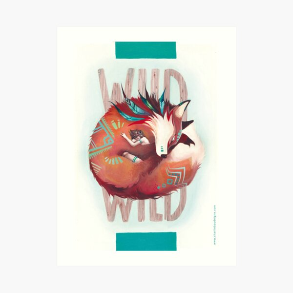 Wild Fox - le renard et la fille - illustration Impression artistique